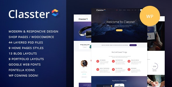 Classter v2.5 — A Colorful Multi-Purpose WordPress Theme