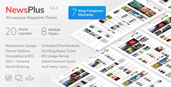 NewsPlus v3.5.0 — News and Magazine WordPress theme