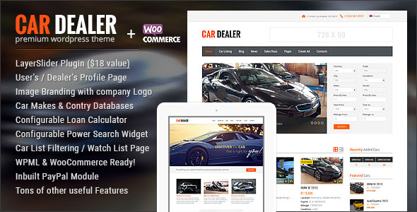 Car Dealer v1.5.0 — Automotive Responsive WordPress Theme