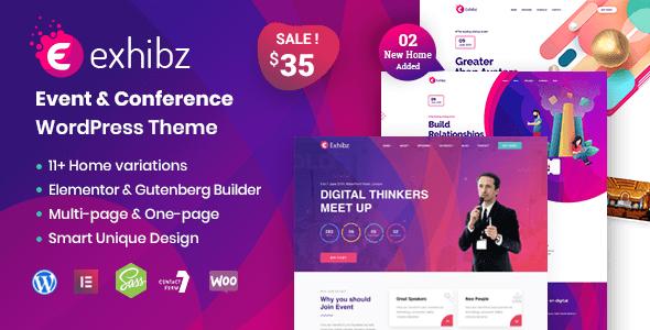 Exhibz v2.1.4 — Event Conference WordPress Theme