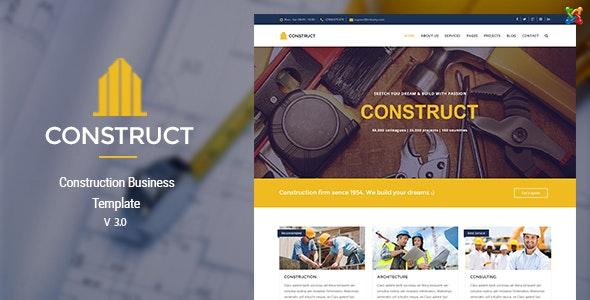 Construct v3.0 — Joomla Construction & Business Template