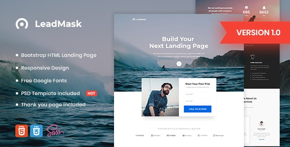 LeadMask v1.0 — Business HTML Landing Page Template