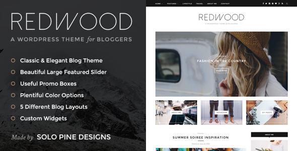Redwood v1.7.1 — A Responsive WordPress Blog Theme