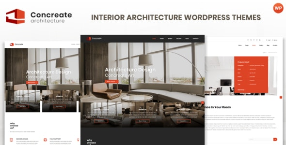 Concreate v1.2 — Interior Architecture Interactive WordPress Theme