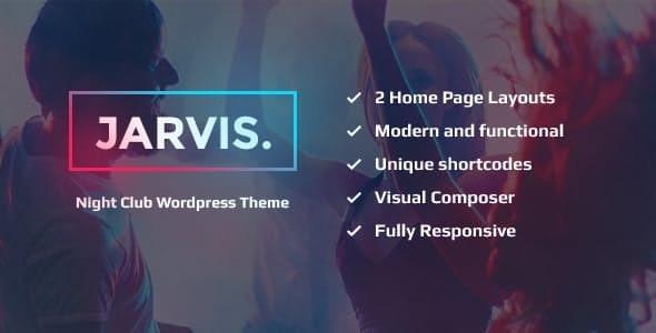 Jarvis v1.8 — Night Club, Concert, Festival WordPress Theme