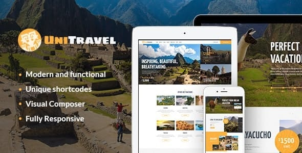 UniTravel v1.2.1 — Travel Agency & Tourism Bureau WordPress Theme