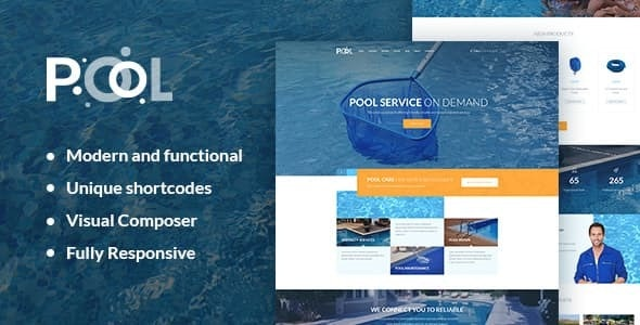 Swimming Pool Maintenance & Cleaning Services v1.1 — WordPress Theme