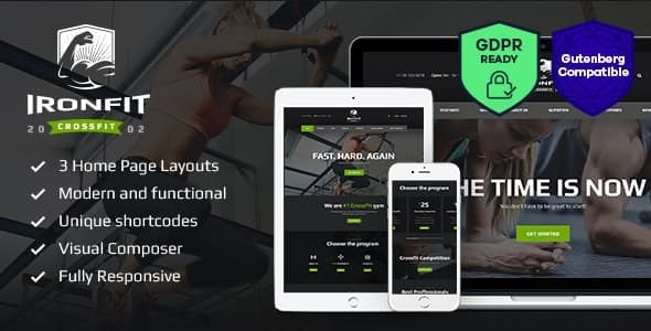 Ironfit v1.5 — Fitness, Gym and Crossfit WordPress Theme