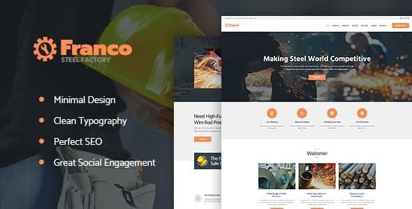 Franco v1.2.1 — Steel Factory & Industrial Plant Manufactoring WordPress Theme