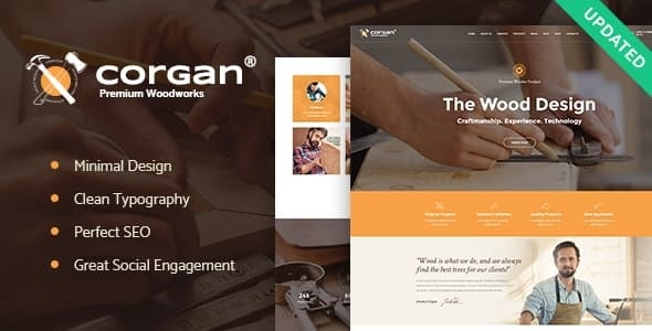 Corgan v1.4.2 — Woodworks, Carpentry and Flooring WordPress Theme