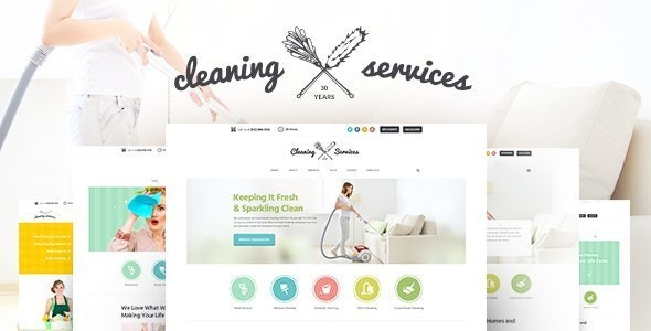 Cleaning Company v1.6 — Maid & Janitorial Housekeeping Service WordPress Theme