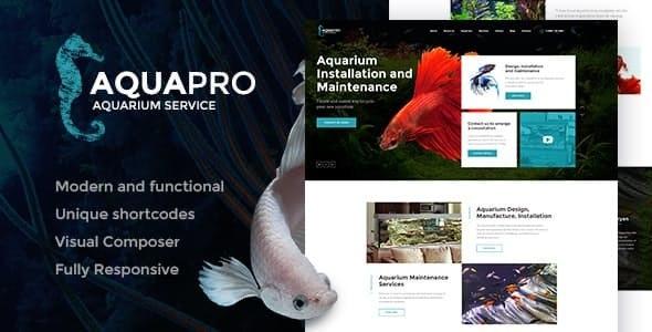 AquaPro v1.1.1 — Aquarium Installation and Maintanance Services WordPress Theme + Store