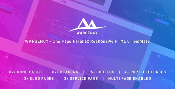 Wargency v1.0 — Onepage Creative Agency Responsive HTML5 Template