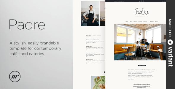 Padre v1.1.0 — Cafe & Restaurant + Variant Page Builder