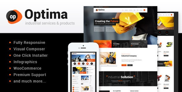 Optima v1.8 — Steel Factory & Industrial Plant Manufactoring WordPress Theme