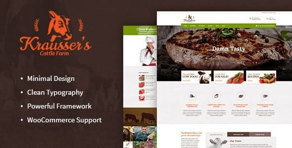 Krausser's v1.7.1 — Cattle Farm & Meat Produce Market WordPress Theme