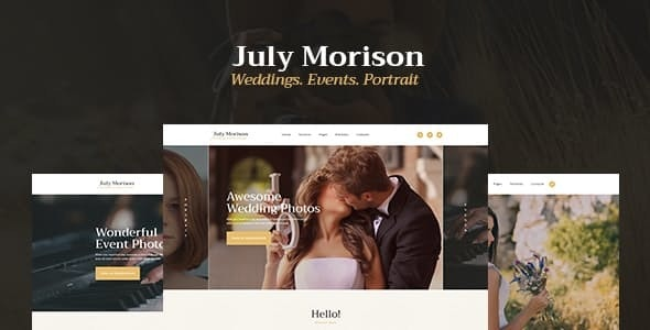 July Morison v1.2 — An Alluring Event Photographer's Portfolio & Blog WordPress Theme
