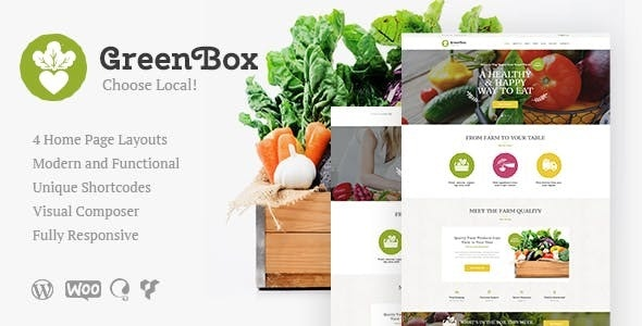 Green Box v1.2 — Eco Farm & Organic Products Store WordPress Theme