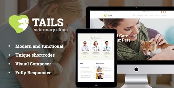 Tails v1.4.1 — Veterinary Clinic, Pet Care & Animal WordPress Theme + Shop