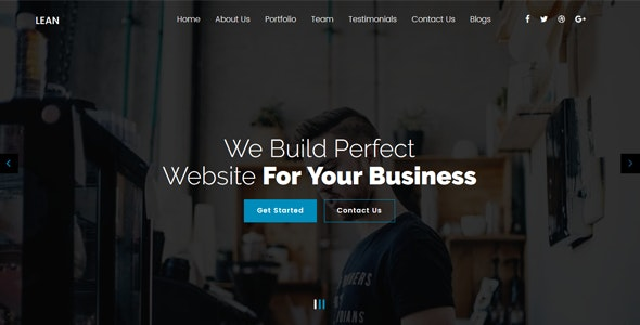 Lean v1.1 — One Page Portfolio WordPress Theme