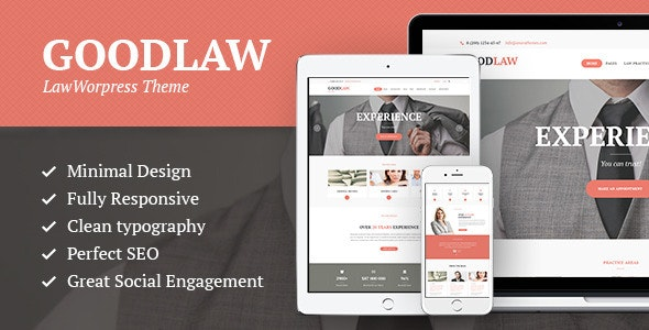 GoodLaw v1.8 — A Lawyers & Legal Advisor Attorney WordPress Theme