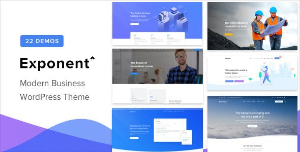 Exponent v1.2.3 — Modern Multi-Purpose Business Theme