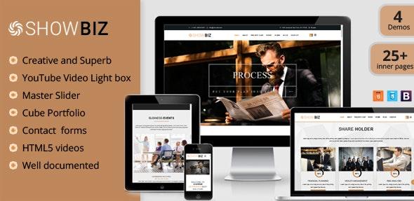 Showbiz v1.0 — Multipages Business HTML Template
