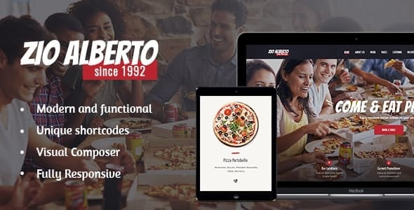 Zio Alberto v1.2.2 — Pizza Restaurant, Cafe & Bistro WordPress Theme