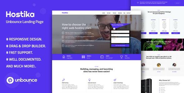 Hostika v1.0 — Unbounce Landing Page Template