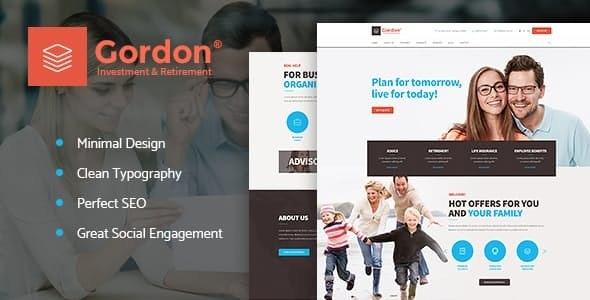 Gordon v1.1.1 — Investments & Insurance Company WordPress Theme