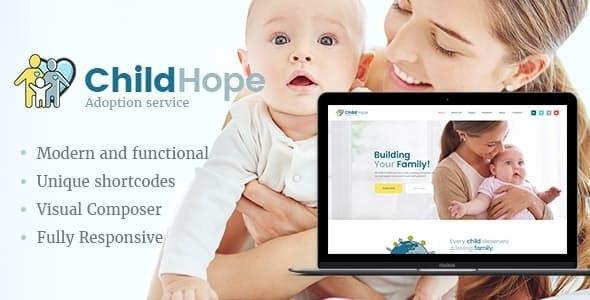 ChildHope v1.1.0 — Child Adoption Service & Charity Nonprofit WordPress Theme