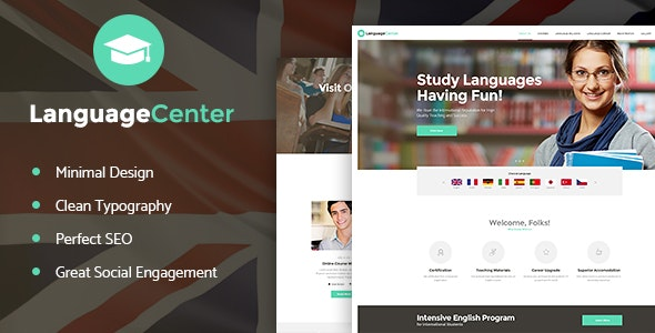 Language Center & Online School Education v1.2 — WordPress Theme