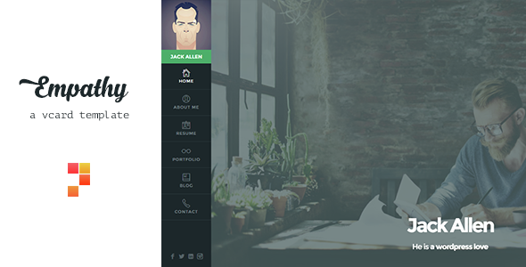 Empathy v1.4.1 — A vCard WordPress Theme