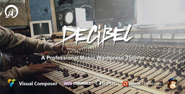 Decibel v3.0.2 — Professional Music WordPress Theme