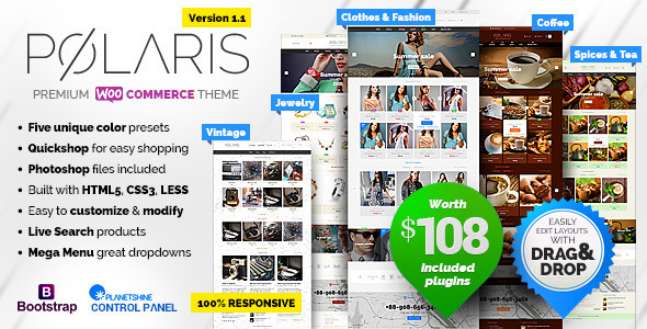 Polaris v1.1.41 — Minimal & Powerful Multipurpose Theme