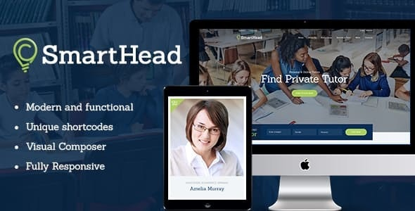 SmartHead v1.1.3 — Tutoring Service & Online School Education WordPress Theme
