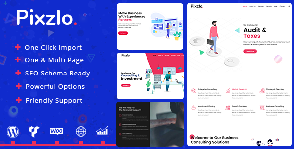 Pixzlo v1.0.7 — Creative Theme for Professionals