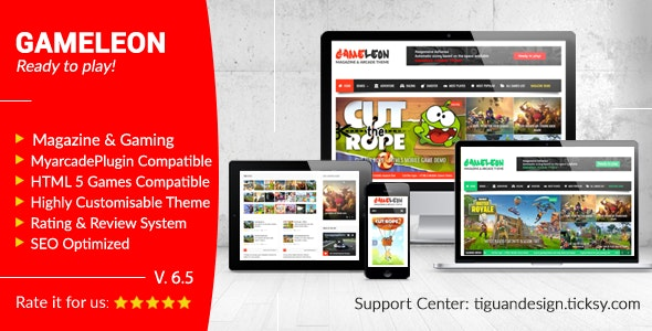 Gameleon v6.5 — WordPress Magazine & Arcade Theme