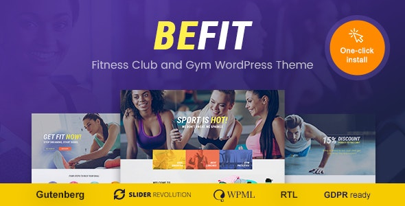 Be Fit v1.1.2 — WordPress Theme for Gym, Yoga & Fitness Centers