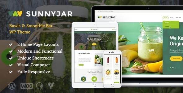 SunnyJar v1.3 — Smoothie Bar & Healthy Drinks Shop WordPress Theme