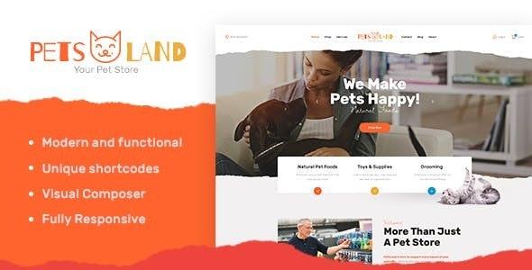 Pets Land v1.2 — Domestic Animals Shop & Veterinary WordPress Theme