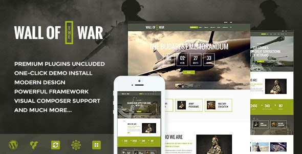Military Service & Veterans Club Volunteer v1.9.1 — WordPress Theme
