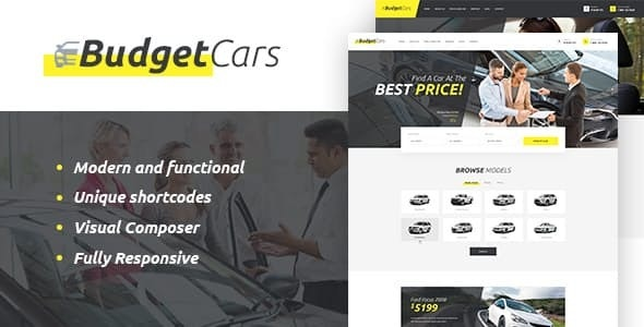 Budget Cars v1.2 — Used Car Dealer & Rental WordPress Theme + Store