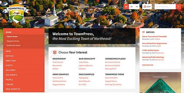 TownPress v3.1.0 — Municipality WordPress Theme
