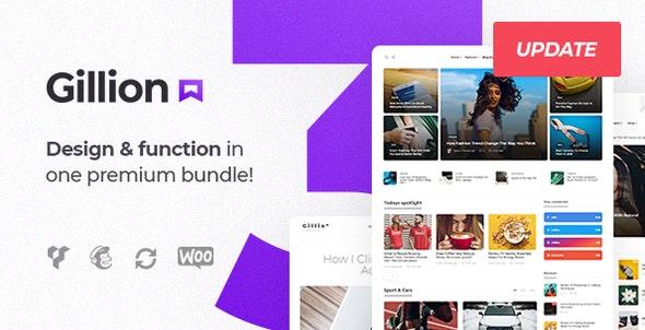 Gillion v3.4.4 — Multi-Concept Blog/Magazine & Shop WordPress Theme