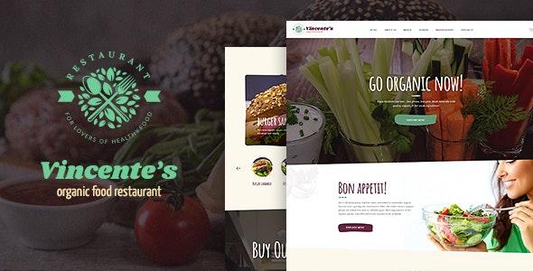 Vincente's v1.1.3 — Organic Food Restaurant & Eco Cafe WordPress Theme