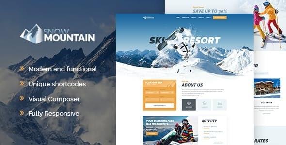 Snow Mountain v1.2.2 — Ski Resort & Snowboard School WordPress Theme