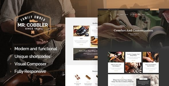 Mr. Cobbler v1.1.2 — Custom Shoemaking & Footwear Repairs WordPress Theme