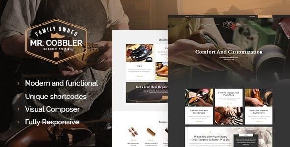 Mr. Cobbler v1.1.2 — Custom Shoemaking & Footwear Repairs WordPress Theme