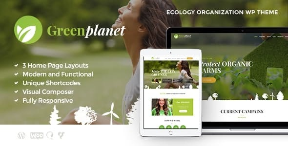 Green Planet v1.1.2 — Environmental Non-Profit Organization WordPress Theme